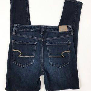 AEO Skinny high rise dark wash jeans 6